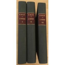 L'Ordre - 3 volumes reliés...